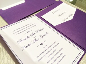 Brenda + Dave | Traditional Wedding Invitations