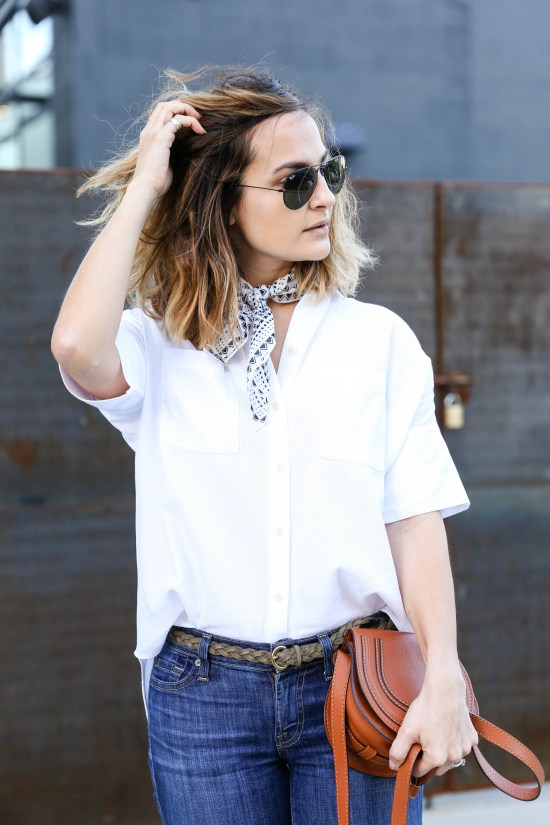 White Cotton Shirt | Charmed by Camille