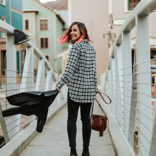 Leather & Plaid | Charmed by Camille