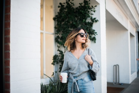 Gray Cashmere Sweater | Charmed by Camille