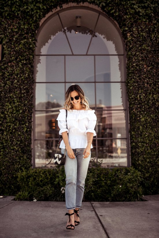White Off The Shoulder Top | Charmed by Camille