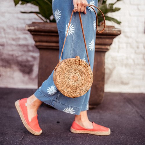 Straw Circle Bag | Charmed by Camille
