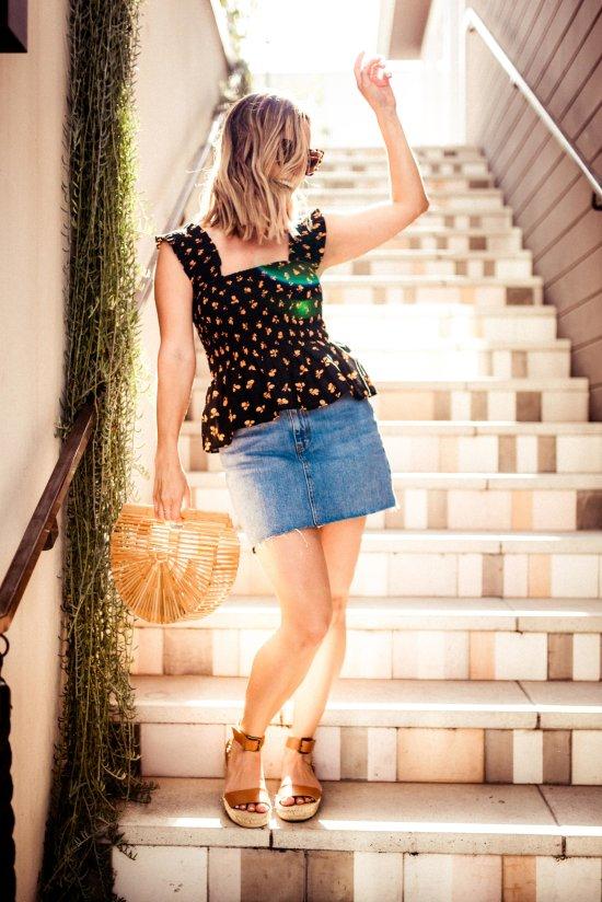 Denim Mini Skirt   Charmed by Camille