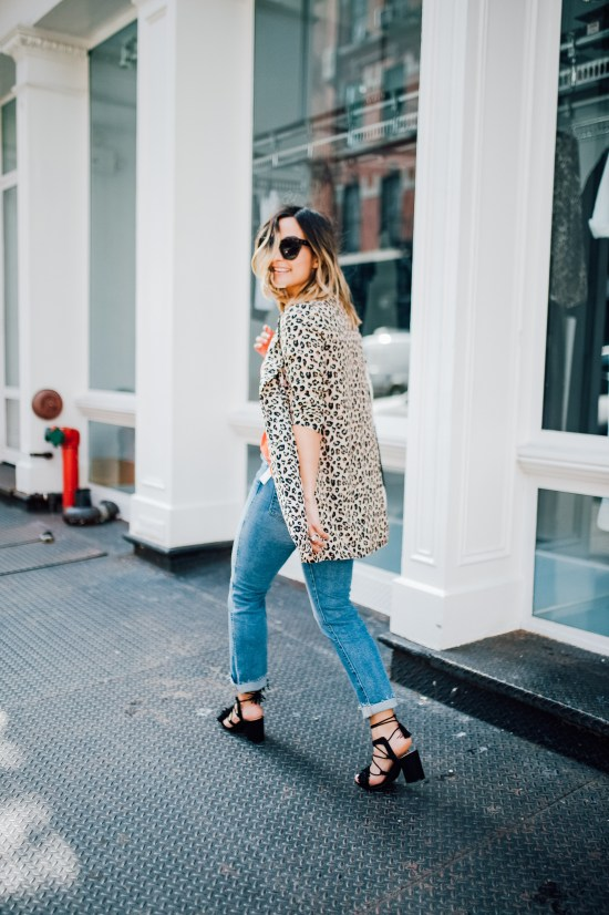 Leopard Print Blazer   Charmed by Camille