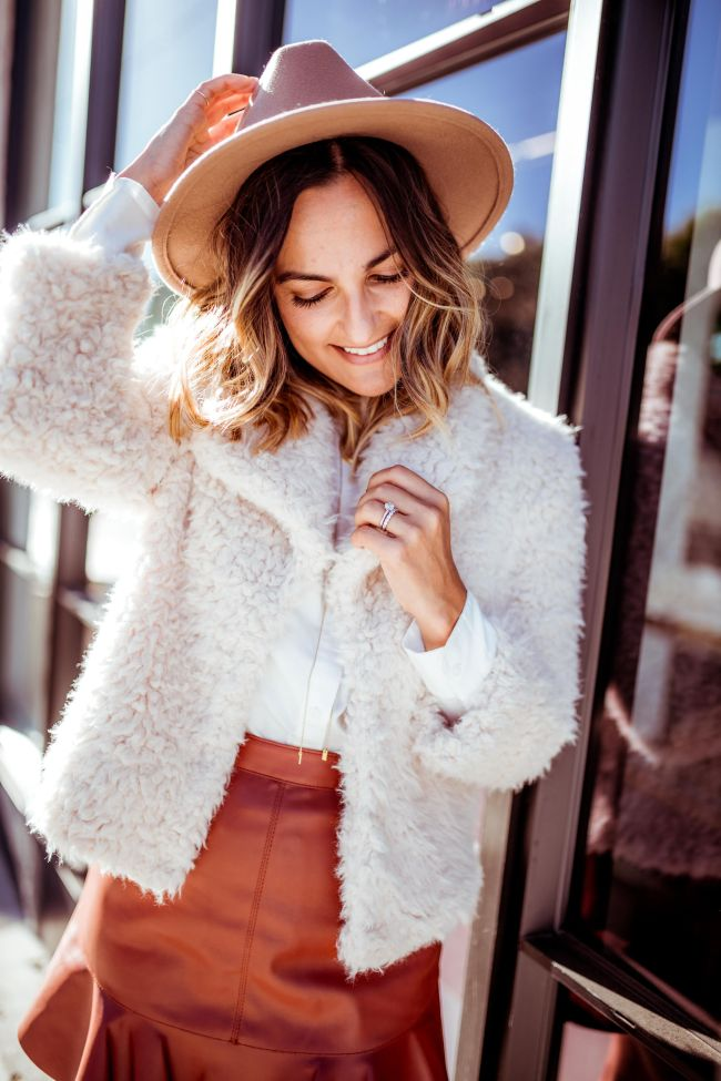 BB Dakota Fuzzy Jacket | Charmed by Camille