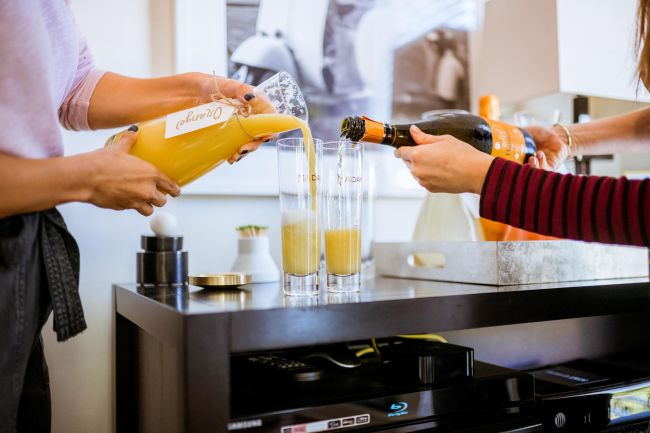 DIY Mimosa Bar | Charmed by Camille