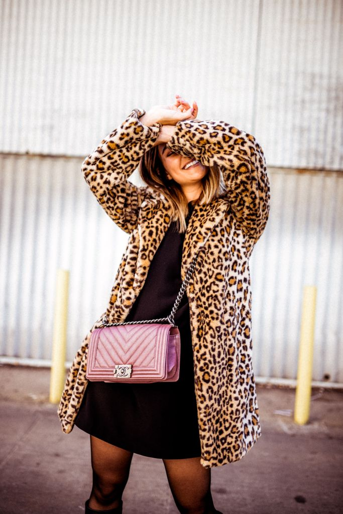 Leopard Print Coat, Chanel Boy Bag | Charmed by Camille