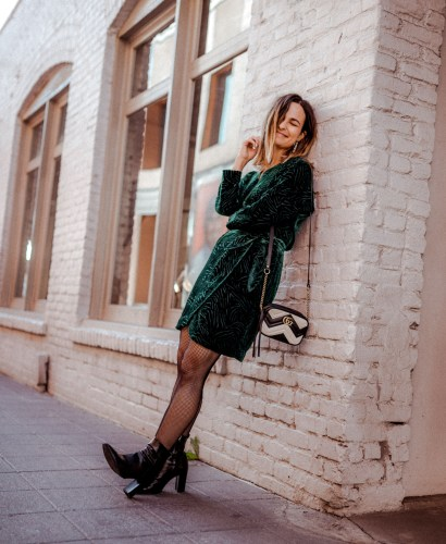 Green Velvet Dress, Party Dressed Under $100   Charmed by Camille