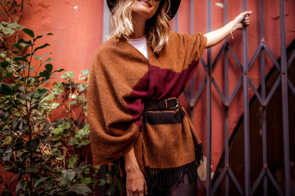 How to Wear a Poncho | Charmed by Camille