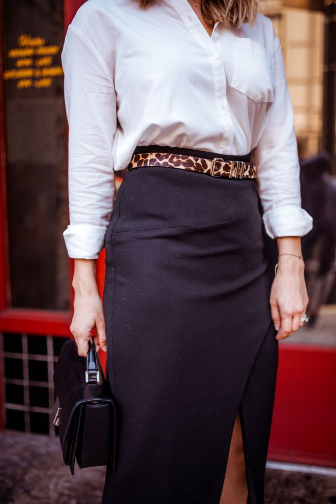 Black Pencil Skirt Outfit | Charmed by Camille