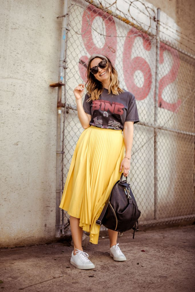 Yellow Midi Skirt | Charmed by Camille