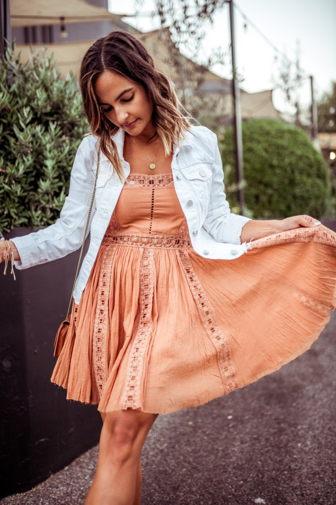Tan Free People Dress | Charmed by Camille