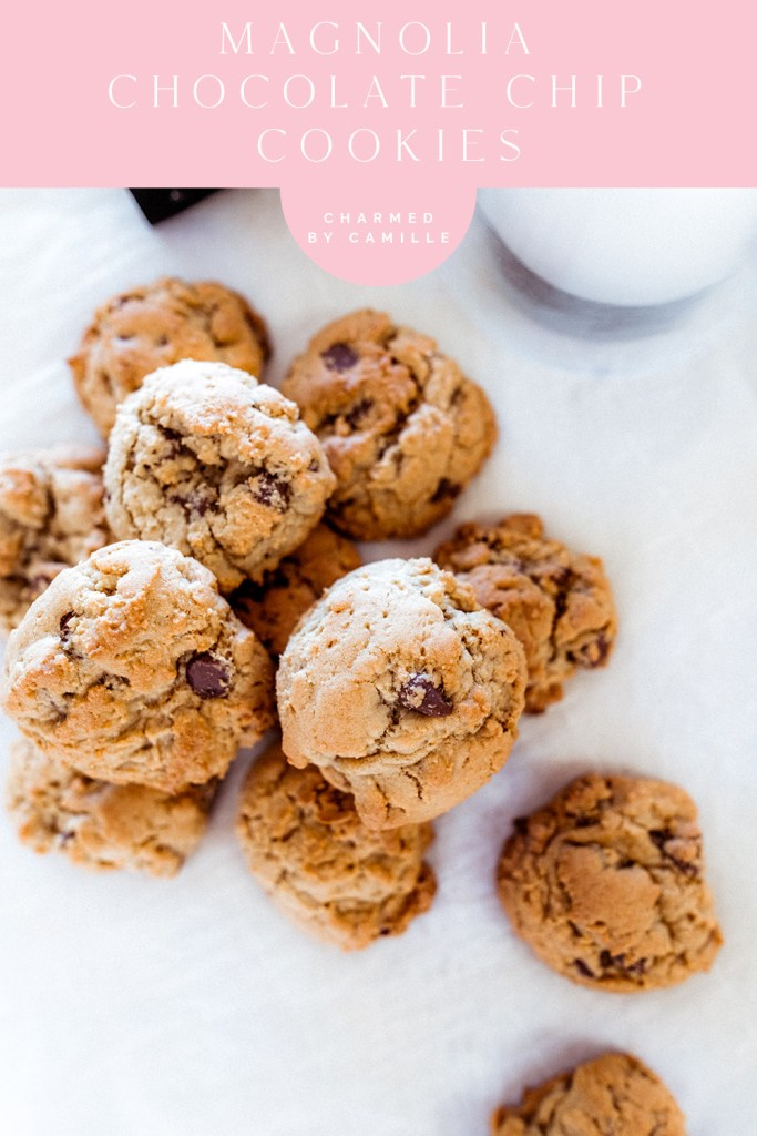 Magnolia Chocolate Chip Cookies | Charmed by Camille