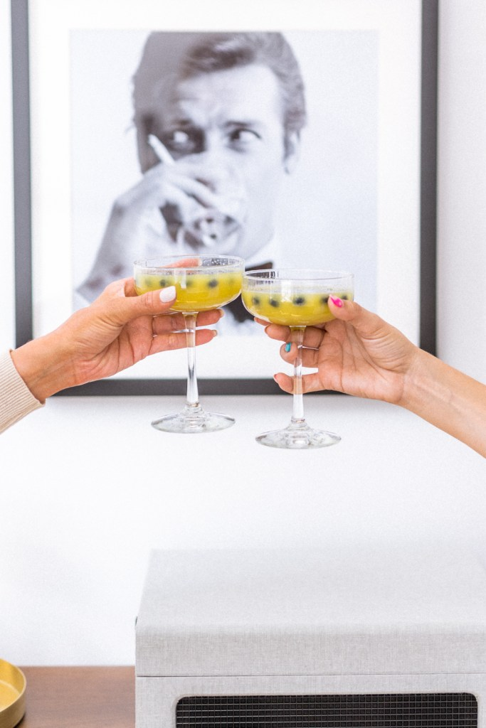 The Best Summer Brunch Cocktail: How to Make Mimosa Sangria, easy summer drink recipe | Charmed by Camille