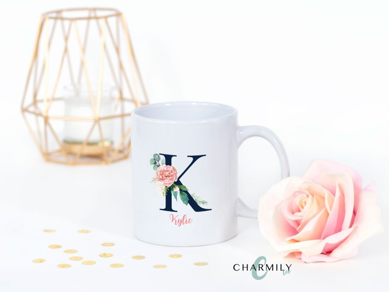 Monogram Personalized Coffee Cups