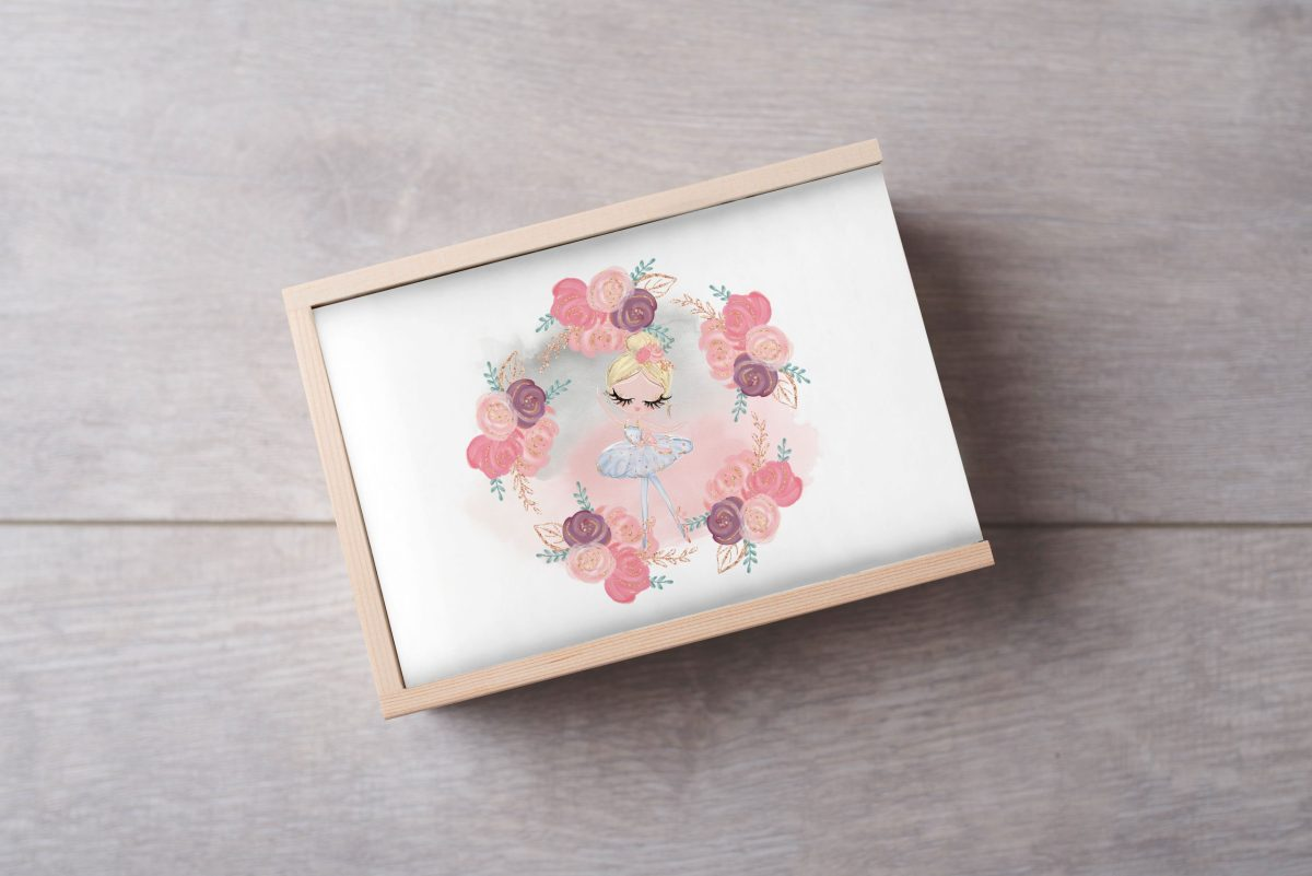 Ballerina-Blonde-No-Name-Keepsake-Box-Large