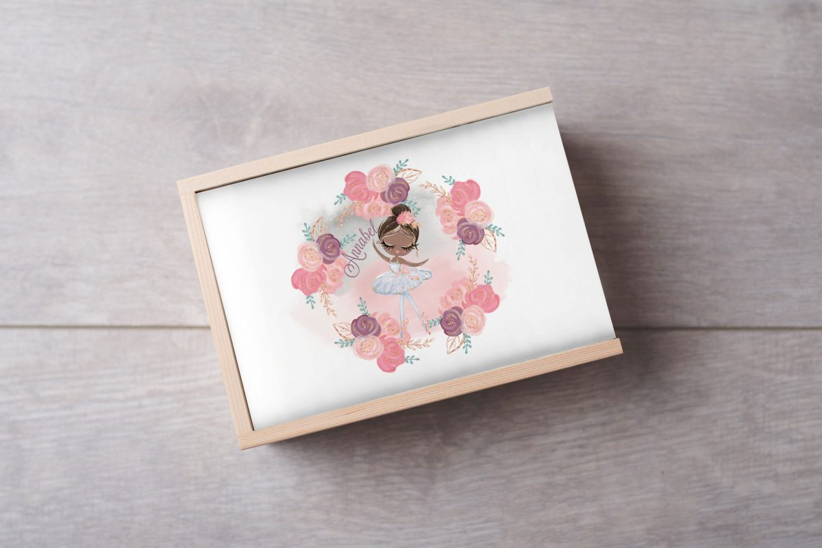 Ballerina-Dark-NameKeepsake-Box-Large