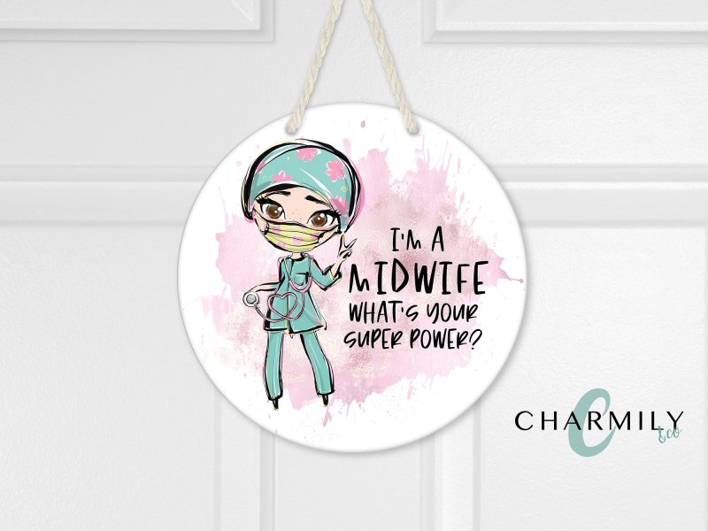 Midwife Round Wall Hanger