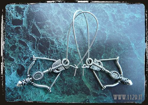 orecchini arco e freccia
