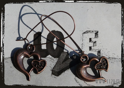 orecchini charms cuore