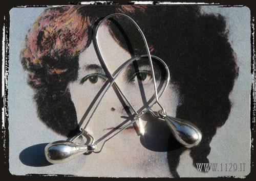 orecchini earrings charm goccia