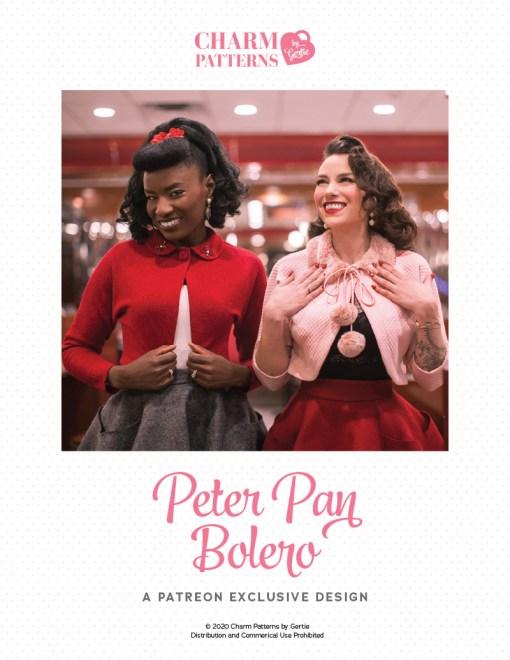 Peter Pan Bolero Patreon pattern by Gertie