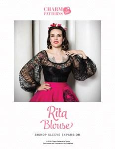 Rita Blouse Bishop Sleeve Expansion Patron pattern by Gertie
