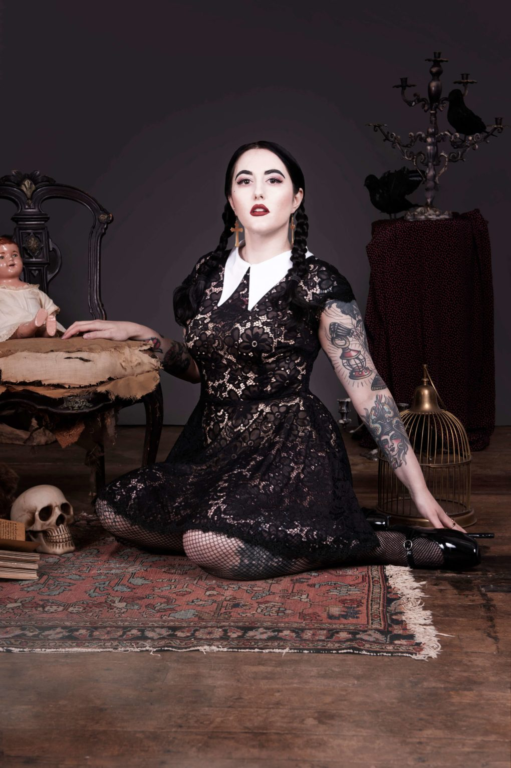 Wednesday Addams inspired dress