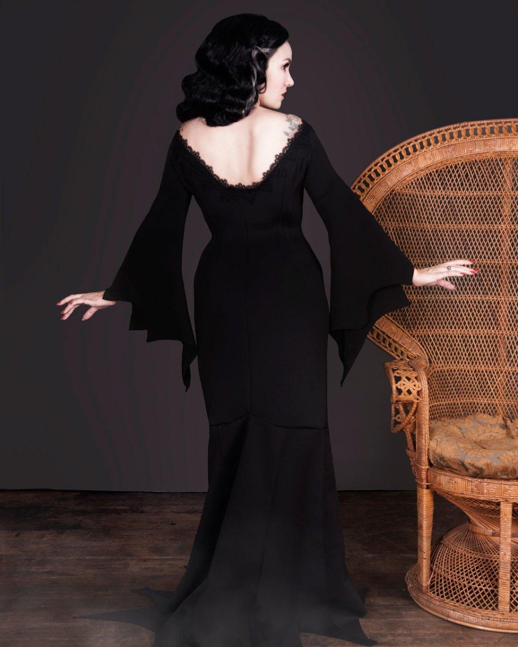 Morticia Addams inspired dress