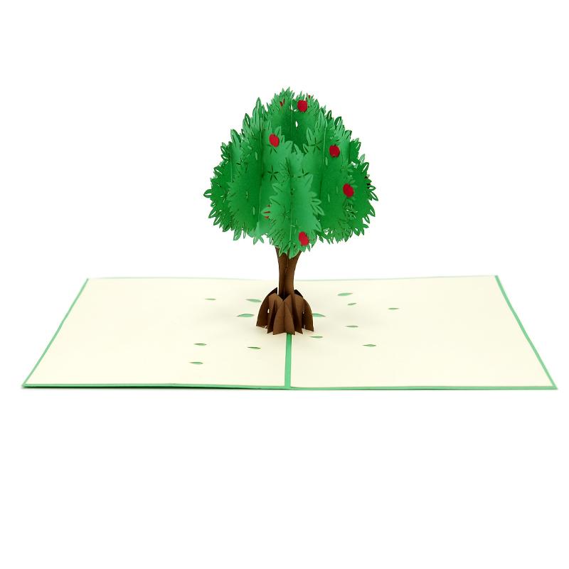 Apple Tree Pop Up Card 3D Card Vietnam Custom Cards