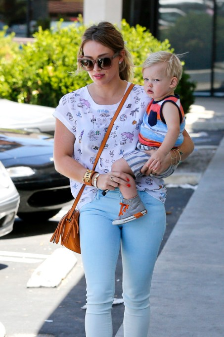 Hilary Duff and Luca have a mother-son Hump Day
