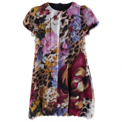Roberto Cavalli Floral Print Puffball Dress