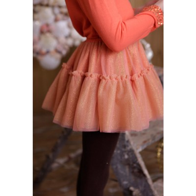 Party Can Can Skirt Coral