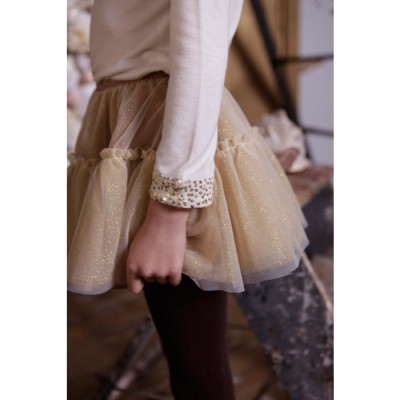 Party Can Can Skirt  Cream