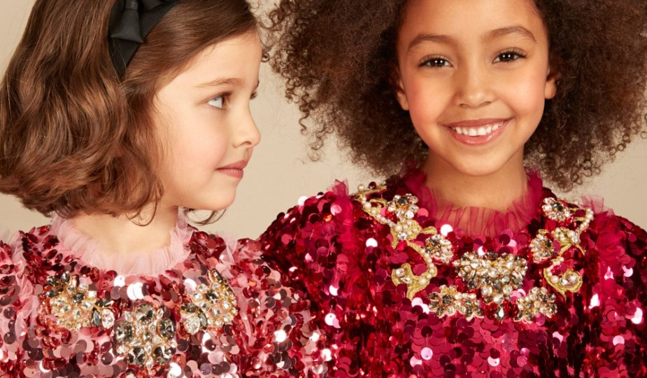 6730eab11 Magical Girls Pink Sequin and Jewel Dress By Dolce   Gabbana ...