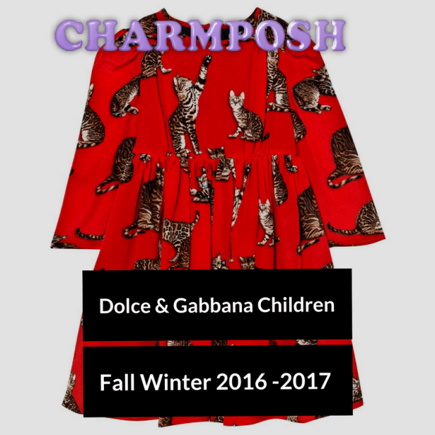 Dolce & Gabbana Junior Red Cat Print Dress CharmPosh buy now