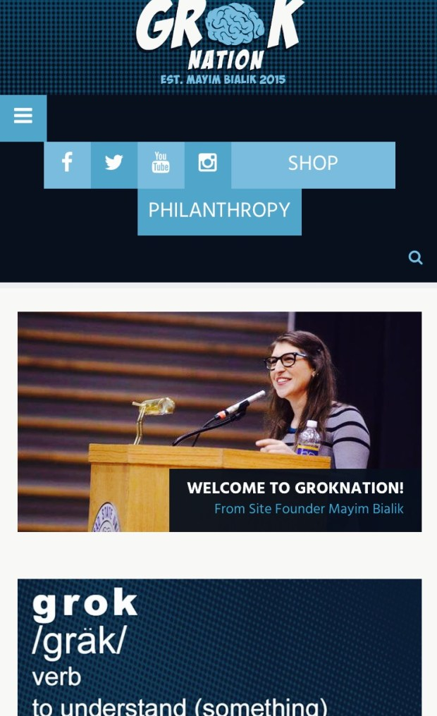Groknation by Mayim Bialik Best Celebrity Mom Websites CharmPosh