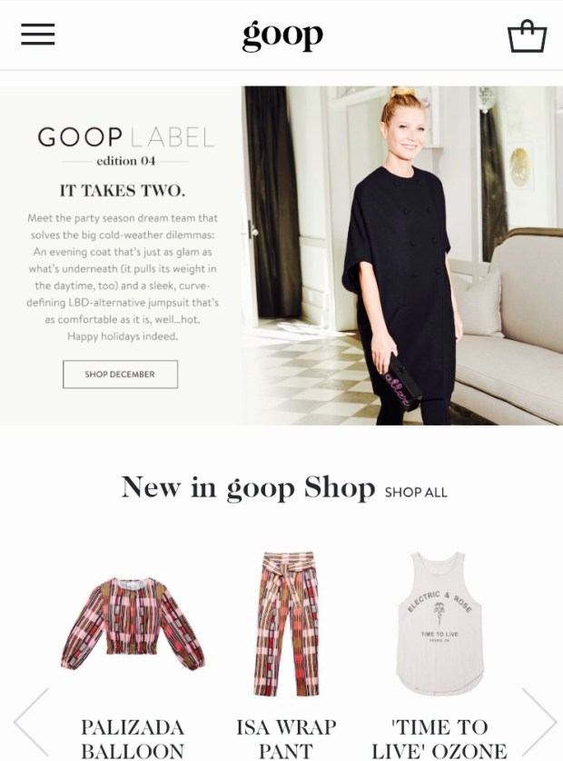 Goop by Gwyneth Paltrow Best Celebrity Mom Websites CharmPosh