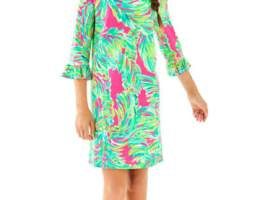 lilly pulitzer UPF 50 Ruffle Girls Dress CharmPosh