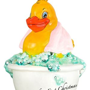 Baby's First Rubber Ducky' Ornament by Joy To The World Collectibles CharmPosh