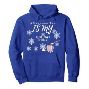 CharmPosh Afternoon Tea Holiday Pullover Hoodie Family Holiday Merch CHARMPOSH