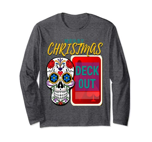 CharmPosh Merry Christmas Deck Out Skull Runway Long Sleeve