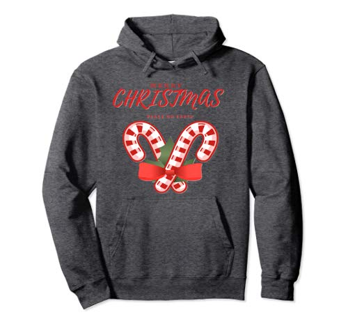 CharmPosh Merry Christmas Peace On Earth Holiday Hoodie