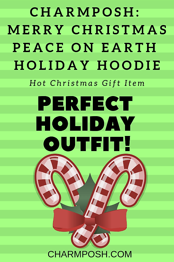 Perfect Holiday Outfit CHARMPOSH Merry Christmas Peace On Earth Hoodie