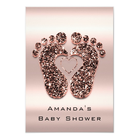 Baby-Shower-Feet-Spark-Glitter-Drips-Rose-Gold-Invitation-Zazzle-CharmPosh-1
