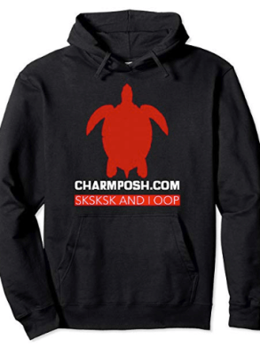CharmPosh- Designer SKSKSK AND I OOP Collection Pullover Hoodie Black