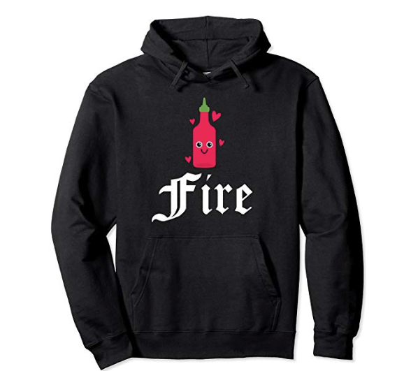 Hot Sauce For Fire Hearts Designer Pullover Hoodie Black