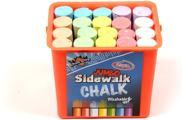 Regal Games Chalk City (20 Piece Jumbo Washable Sidewalk Chalk) CharmPosh 2