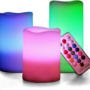 LED Multi Colored Flameless Candles Battery Operated CharmPosh Gifts For Girls