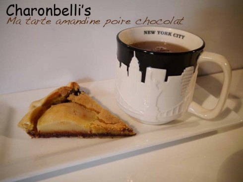Ma tarte amandine poire chocolat - Charonbelli's blog de cuisine